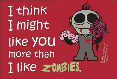 here are some nice zombie valentine s day cards anything zombie